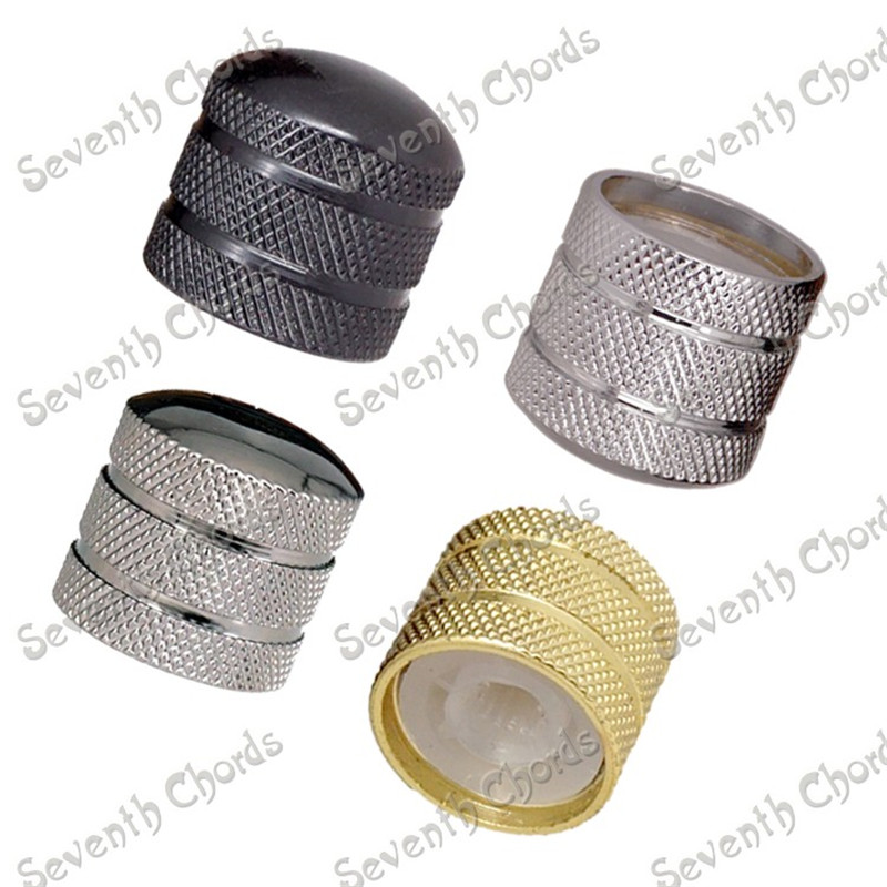 8 Pcs Metal Knurled Barrel Dome Volume Tone Control Knobs Turn Buttons for Electric Guitar Bass 4 Colors guitar accessories
