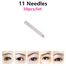 11 Pin Microblading Needles Permanent Makeup Eyebrow Blade For 3D Embroidery Manual Tattoo Pen Machine Cosmetic Eyebrows