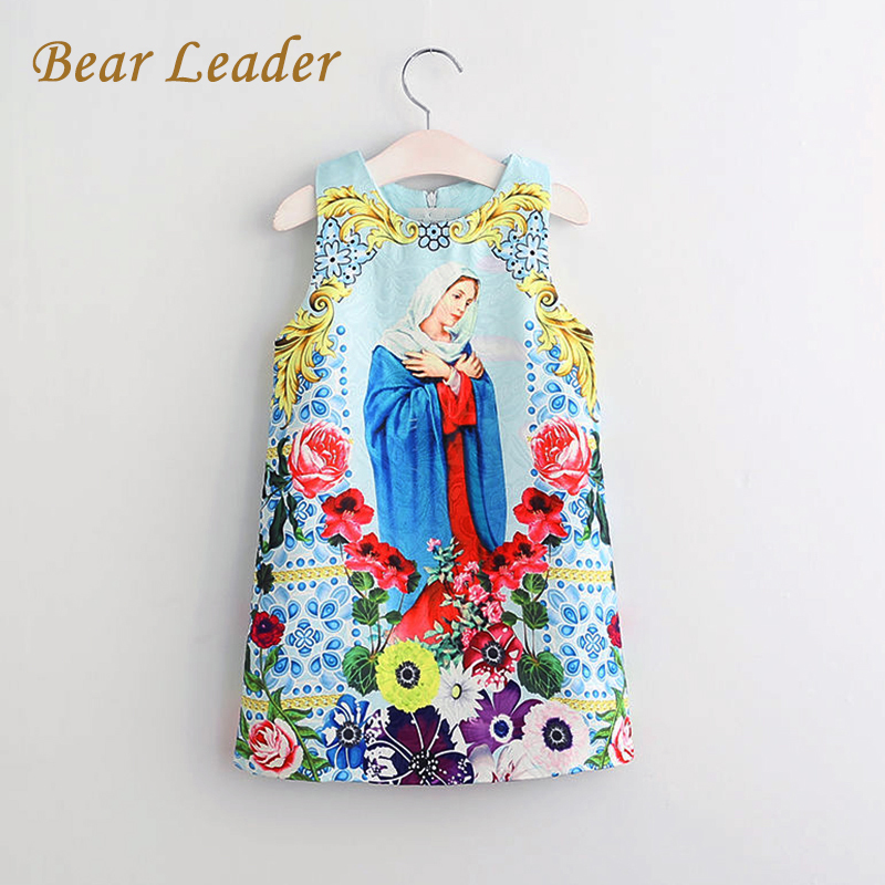 Bear Leader Brand Girls Dress 2017 NEW European and American Style Pattern Pring for Baby Girls Dress Children Clothing 3-8Y bear leader 2017 new girls dress summer kids clothes children clothing brand character pattern sleeveless baby girls dress party
