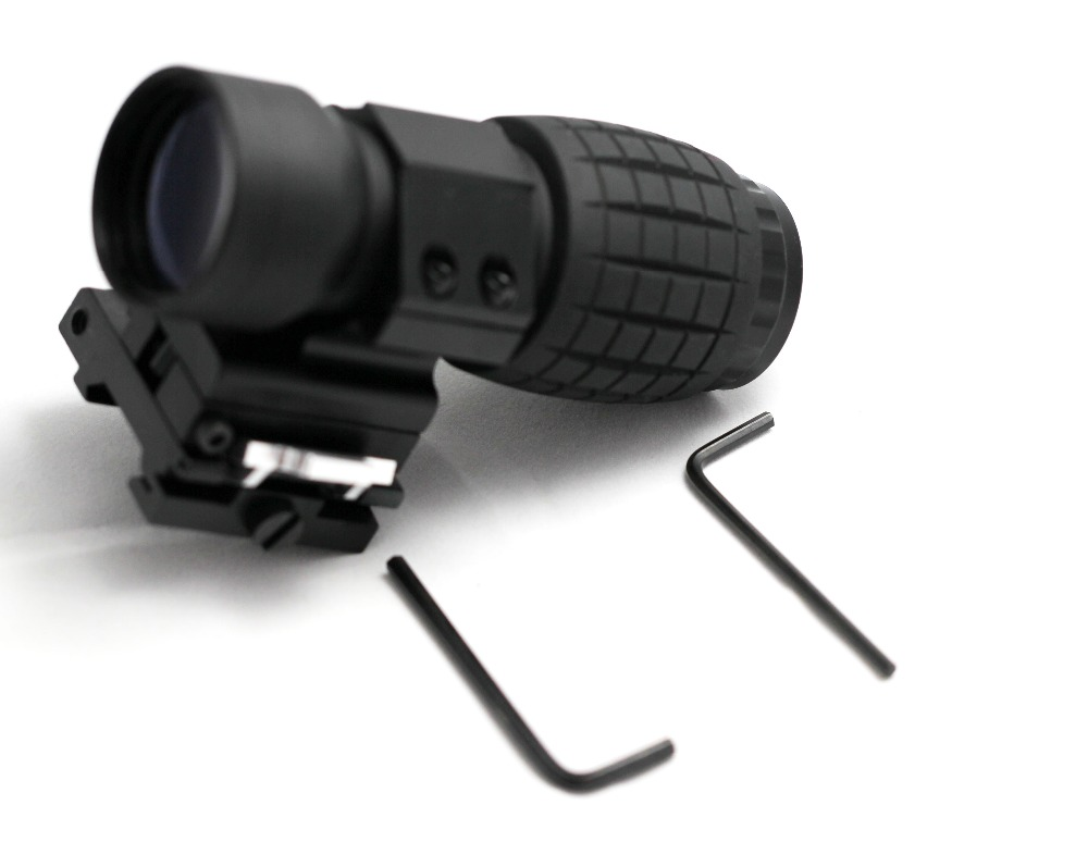 4X Magnifier FTS Flip to Side for eotech aimpoint or similar scopes sights with Lens Cover topperr 1133 fts 6e