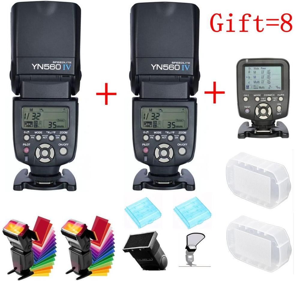 For Nikon Canon DSLR Camera Master LCD Speedlite Flash YONGNUO YN560 IV YN560IV YN560-IV X2+ YN-560TX Wireless Flash Controller цена