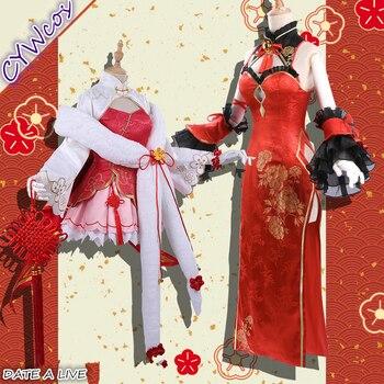 Pre-sale Anime DATE A LIVE Itsuka Kotori Tokisaki Kurumi Lovely Sexy Female Dress Chinese Cheongsam Cosplay Costume 1