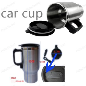 Car travel cup Auto Electric Device 12V Car Water Soup Tea Coffee Bottle Heater Boiler With Cigarette Socket Car Heater Cup