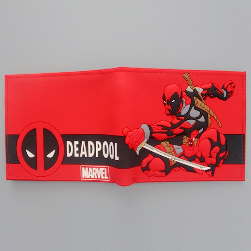 Новые дизайнерские мультфильм аниме кошелек Прохладный комиксов Дэдпул кошельки для мужчин и женщин Super Hero деньги сумка клипы студент косплей кошелек