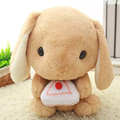 1PC 40cm Rabbit Cuddly Bunny Fluffy Rabbit Plush Dolls Toy Lying Cushion Pillow Cute Big Ear Rabbits Lop Gift Girls Dolls WW67