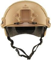 Tactical Polowanie Na Zewnątrz Ochrona Biegów typu Fast Helmet MH Proste Armii Kask Kaski Rowerowe Kolarstwo Gry