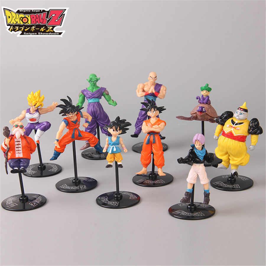 9cm X 3 centímetros Dragon Ball Z Mini Bicicleta Kuririn Goku Gohan Vegeta Dragon Ball Z Figura Meninos Brinquedo PVC Anime Modelo Coleção Toy Kid