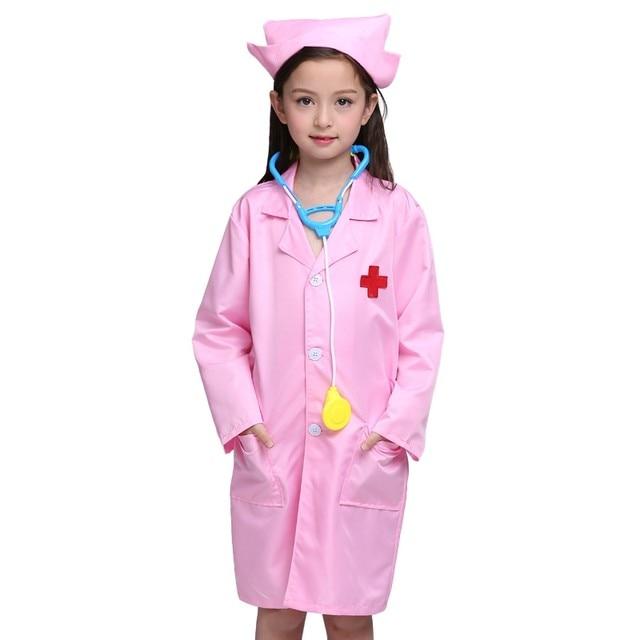 Online Shop Children Cosplay Clothes White Doctor Uniform Nurse ...
