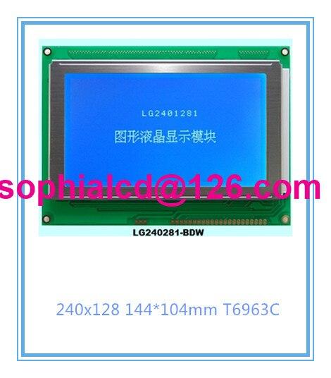 ФОТО Free shipping 1pcs  240128 240X128 240*128  lcd  display module  T6963C 5V Blue High quality SMD IC LG2401281BMDWH6V