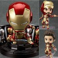 """Free Shipping New 4"""" Nendoroid Iron Man Mark 42 Hero's Edition + Hall of Armor Set PVC Action Figure Collection Gift #349"""