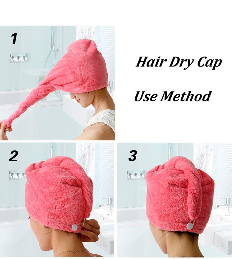 GIANTEX Women Bathroom Super Absorbent Quick-drying Microfiber Bath Towel Hair Dry Cap Salon Towel 25x65cm U0755 5