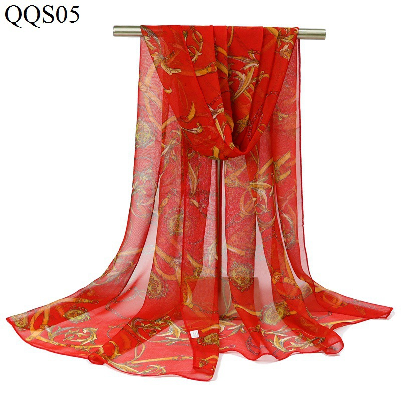 2016 winter Chiffon silk Scarf female summer autumn all-match scarf long design air conditioning cape silk scarves shawls S188