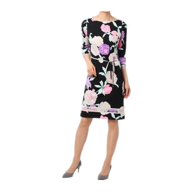 Europe amérique automne mode femmes nouvelle impression stretch tricot mince minceur robe Z-1-318
