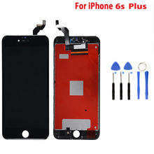 AAA LCD For iPhone 6S Plus LCD Display Full Touch Screen Digitizer Assembly For iPhone 6SP Screen With  gift Black Color цены онлайн