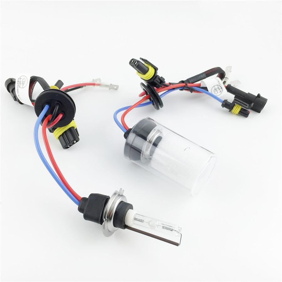 Zëvendësimi i llambës së dritës 2x H7 Xenon AC 12V 35W Xenon për Llambën e dritës së diellit 4300K 6000K 8000K Baza metalike e qeramikës për dritën e dritës së makinave
