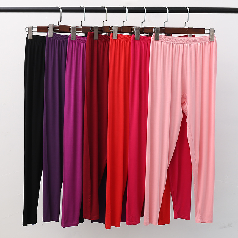 XL XXL 3XL 4XL 5XL Plus Size Women's Trousers Home Pants Modal Pajama Pants For Women Spring Autumn Sleeping Pants Bottom Q306 1