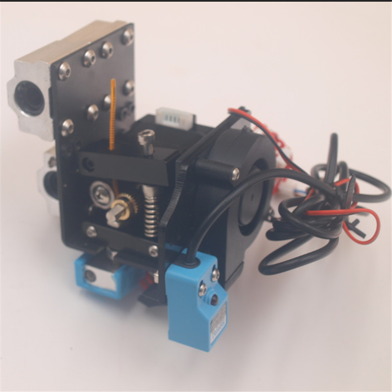 Reprap Prusa i3 Anet A8 3D printer auto leveling extruder assembly kit with silicone sock all metal extruder carriage
