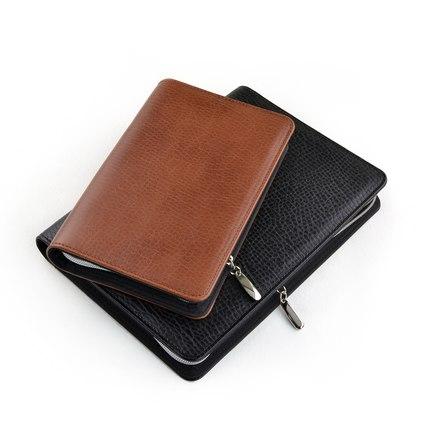 Nieuwe hete 2015 A5 / A6 zakelijke notebook rits tas comercial - Notitieblokken en schrijfblokken bedrukken - Foto 3