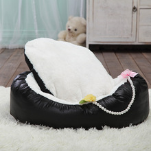 Direct Selling Cradle Dog Bed Coral Fleece Kennel Warm Pet Supplies Wholesale