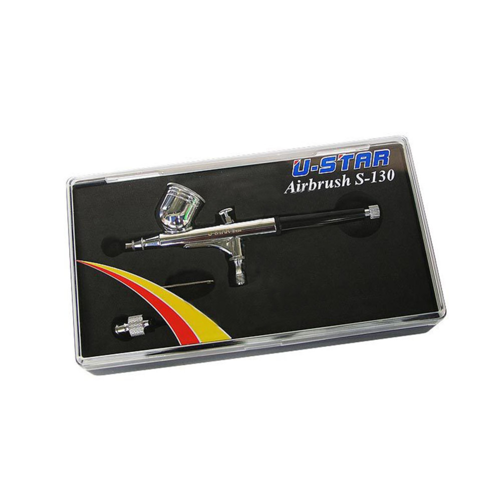 OHS Ustar UAS130 Model Spray-Work Modeling Double-action Airbrush 0.3mm Hobby Painting Tools Accessory цена