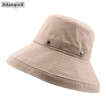 XdanqinX Foldable Adult Womens Bucket Hats 2019 Summer New Elegant Beach For Women Wind Rope Fixed Multipurpose Visor Hat