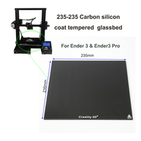 235*235mm New Creality  Ultrabase 3D Printer Platform Heated  Bed Build Surface carbon silicon Glass plate  Ender3 ender 3 pr|3D Printer Parts & Accessories| |  -