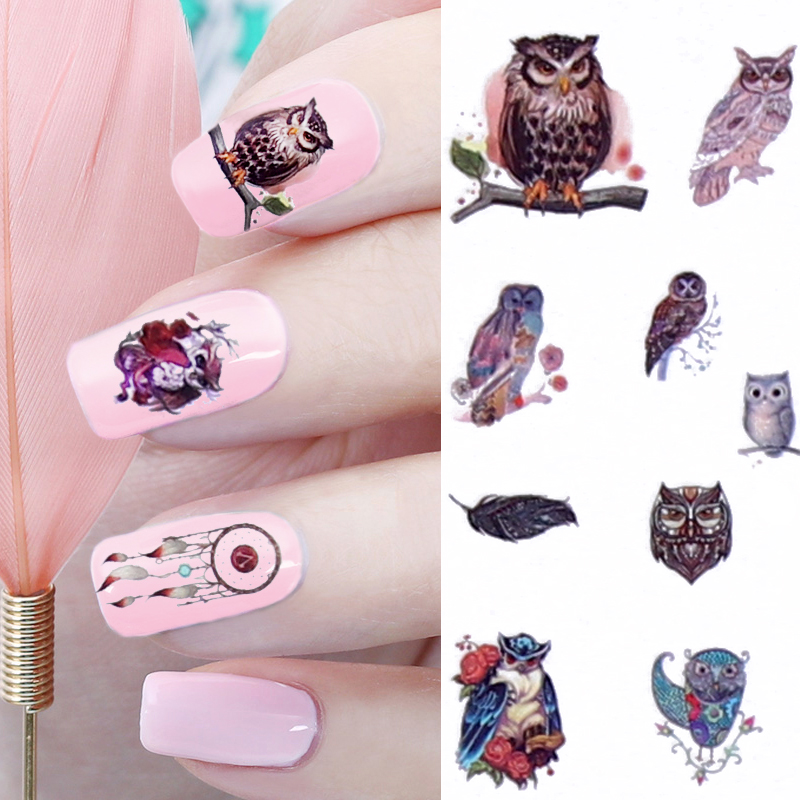 12 Patterns Big Sheet Water Decal Dream Catcher Owl Nail Art Transfer Sticker Manicure Nail Decal  MT25-36 12 patterns big sheet water decal butterfly manicure nail art transfer sticker a1297 a1308