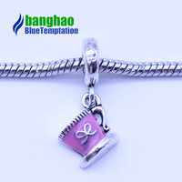 925 silver color plated Wholesale alloy jewelry coffee cup pendant bracelet diy accessories DGB204