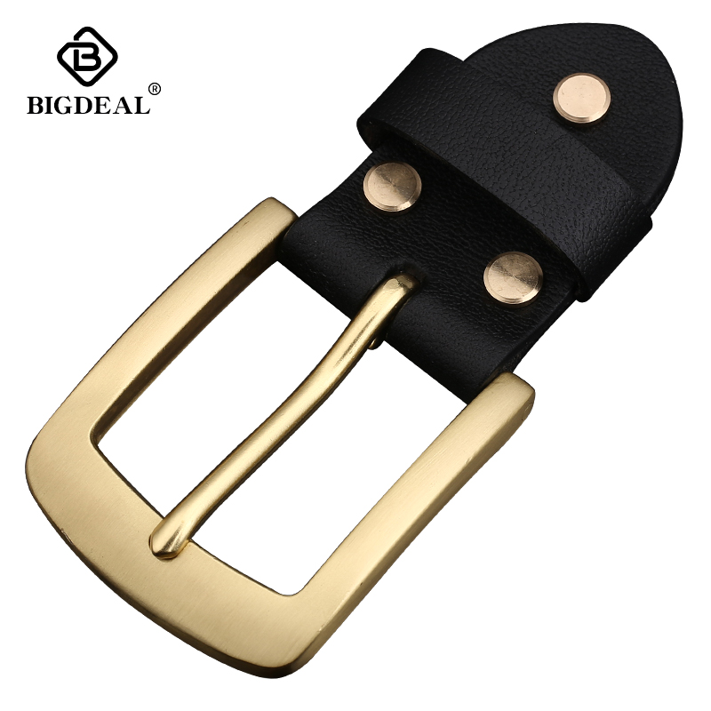 Retail 2018 Newest High Quality 100% Solid Brass Fashion Men's Belt Buckle Fit 3.8cm Wide Belt Classic Mens Jeans Accessories
