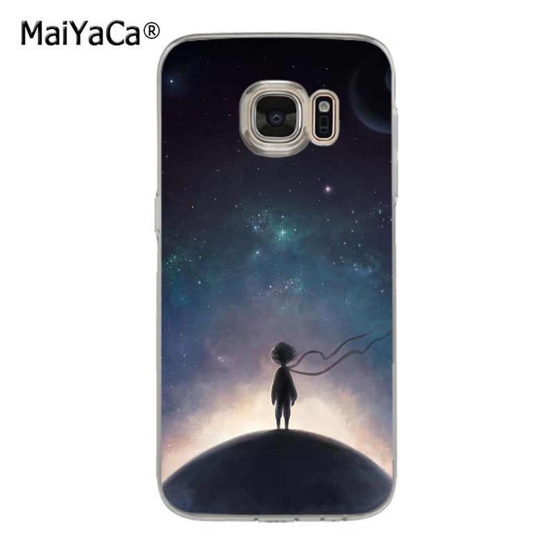 Maiyaca o pequeno príncipe na terra espaço macio tpu caso de telefone capa para samsung galaxy s7 s6 edge plus s5 s9 s8 mais caso
