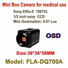 Best TOP Industrial Mini CCTV Box Camera 700TVL OSD Menu AGC AES BLC 700TVL EFFIO Small Box Camera use for Bank Hospital Hotel