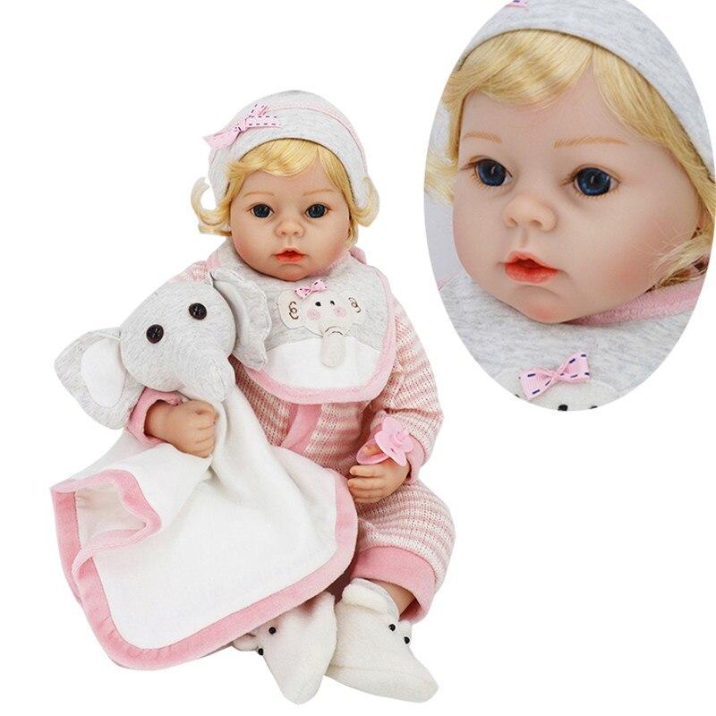 2017 New NPKDOLL 22 Inch Baby Reborn Doll Bebe Reborn Lifelike Soft Silicone Reborn Toys Gift for Girls Newborn Babies Toys