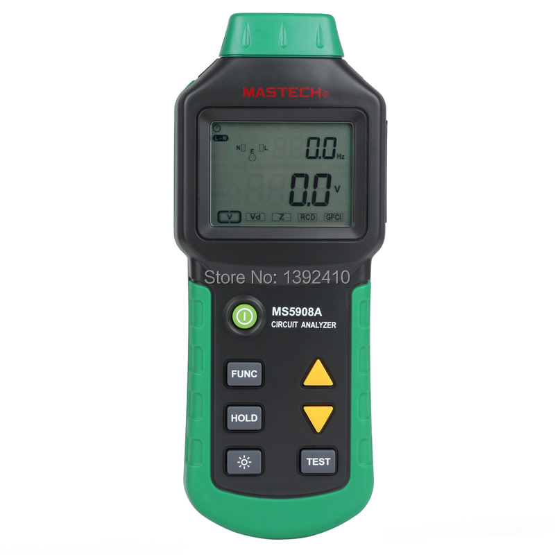 все цены на  New arrival MASTECH TRMS Voltage GFCI RCD Tester Circuit Analyzer MS5908A  онлайн