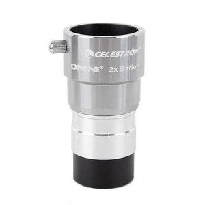 Image 2 - Celestron omni 2x barlow eyepiece by magnification eyepiece professional telescope barlow parts Astronomical eyepiece