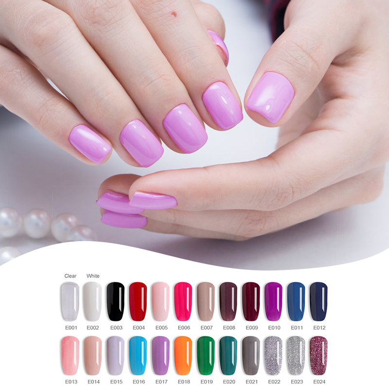 ELIKE sparkle glitter dipping powder 10g shining color fashion quick dry acrylic French nail dip kit salon design