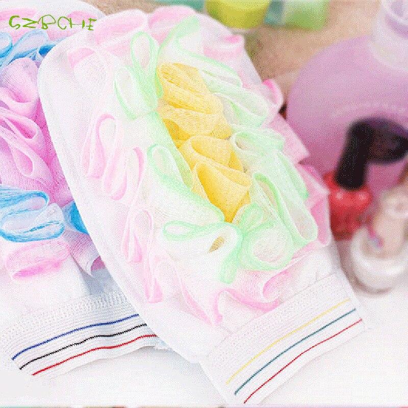 Cuozao gloves with bath flower bath rub cloth flowers small bubble bath towel Cuozao