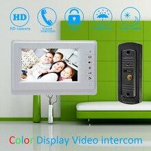 (1 Set) white color 7 inch Monitor Home Improvement Video Door Phone Home Security Digital Doorbell Door Access Control Intercom