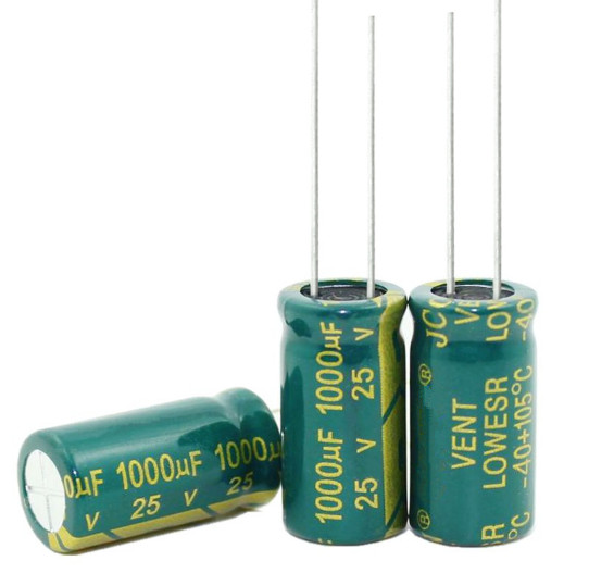 New Original High-frequency Crystal 1000uf 1000uf 25v 25 V 1000 Uf 1000 Uf 25 V Size:10*17MM New Original