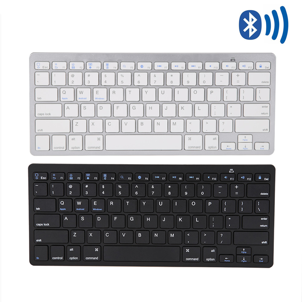 все цены на Ultra Slim Wireless Bluetooth Keyboard Bluetooth 3.0 Teclado Sem Fio Keycap Klavye for Windows for Android Tablet PC Phone Pad