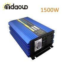 1500 Watt SOLARANLAGE WECHSELRICHTER DC12V 24 V 48 V ZU AC 220 V 110 V REINE SINUSWELLE Wind/Auto