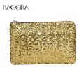Fashion Women Clutch Bag Dazzling Sequins Glitter Sparkling Handbag Evening Party Bag Top Quality Bolsos Mujer Golden Sliver