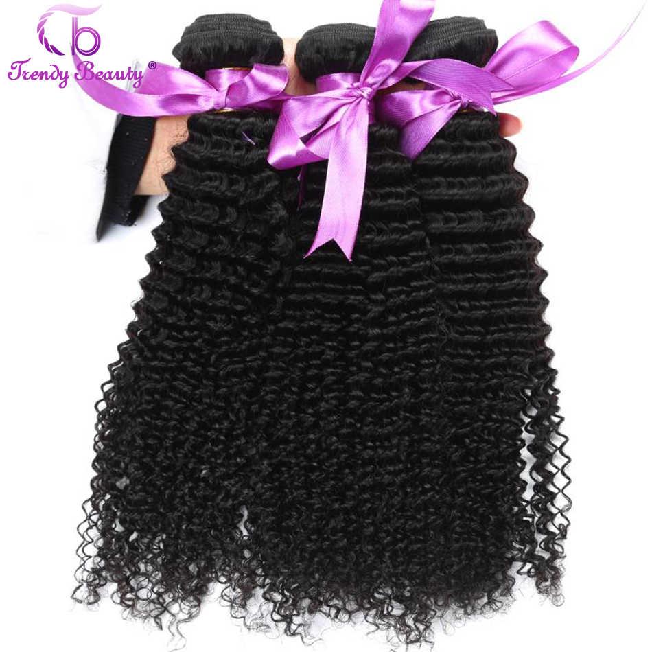 TRENDY uroda peru Afro perwersyjne kręcone ludzkie włosy rozszerzenie 4 wiązki naturalny kolor czarny mogą być barwione nie remy 8- 30 cali