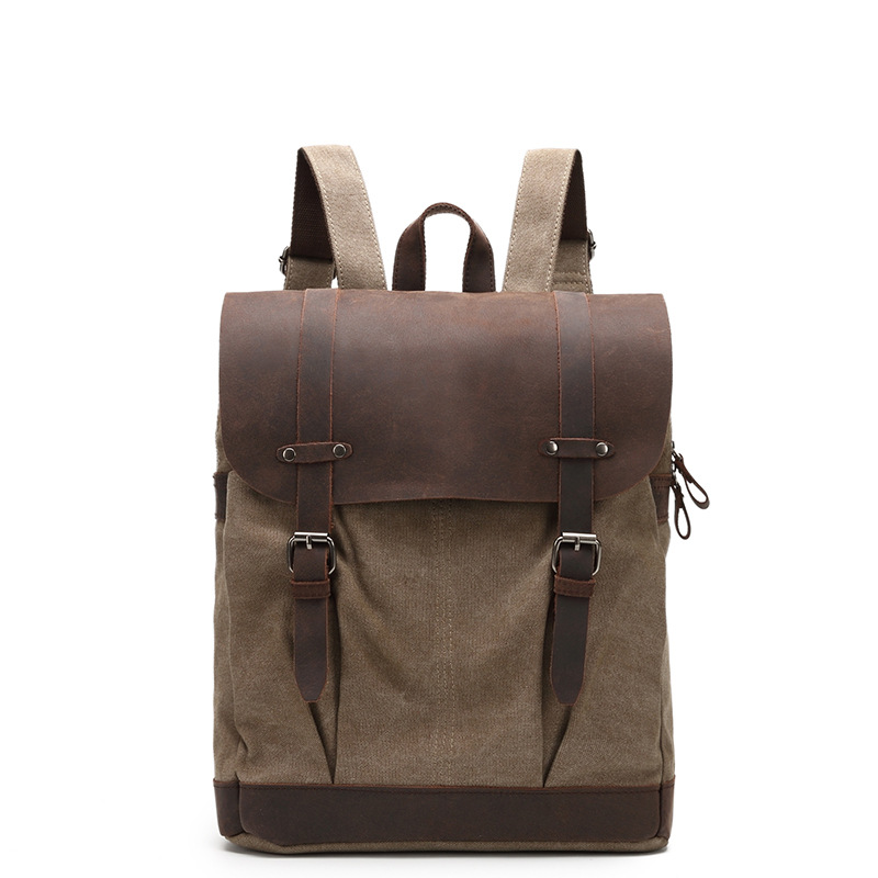 Men's Canvas Backpack Vintage Student School Backpack Bags for Teenagers Computer Bag Boy Casual Rucksack Travel Daypack G044 roblox game casual backpack for teenagers kids boys children student school bags travel shoulder bag unisex laptop bags
