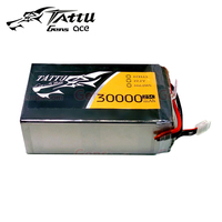 TATTU Batteries 6S 30000mAh 22.2V 25C 6S1P LiPo Battery Pack with AS150 + XT150 Plug Connector for UAV Drones