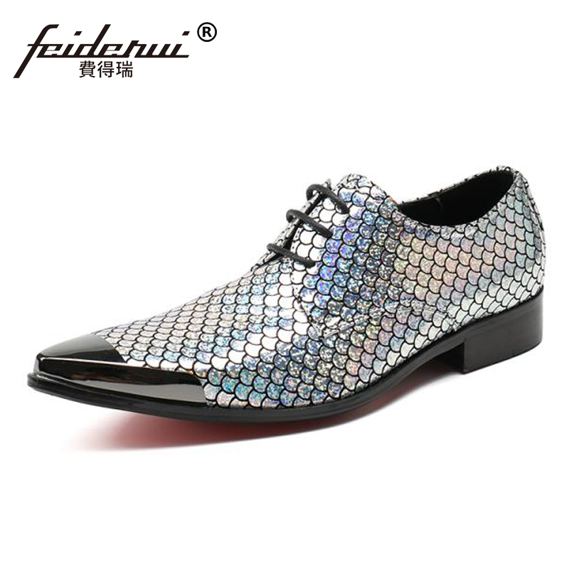 Plus Size Fashion Pointed Toe Derby Man Formal Dress Footwear Elegant Designer Genuine Leather Wedding Party Men's Shoes SL160 hot sale mens genuine leather cow lace up male formal shoes dress shoes pointed toe footwear multi color plus size 37 44 yellow