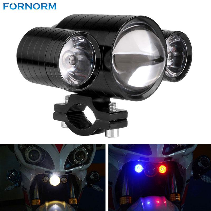 Prix pour 1 Pcs U10 30 W Moto LED Phare Devil Yeux Lumières Étanche Spotlight Moto Brouillard Lampe Ampoule 12-80 V Blanc + Bleu + rouge
