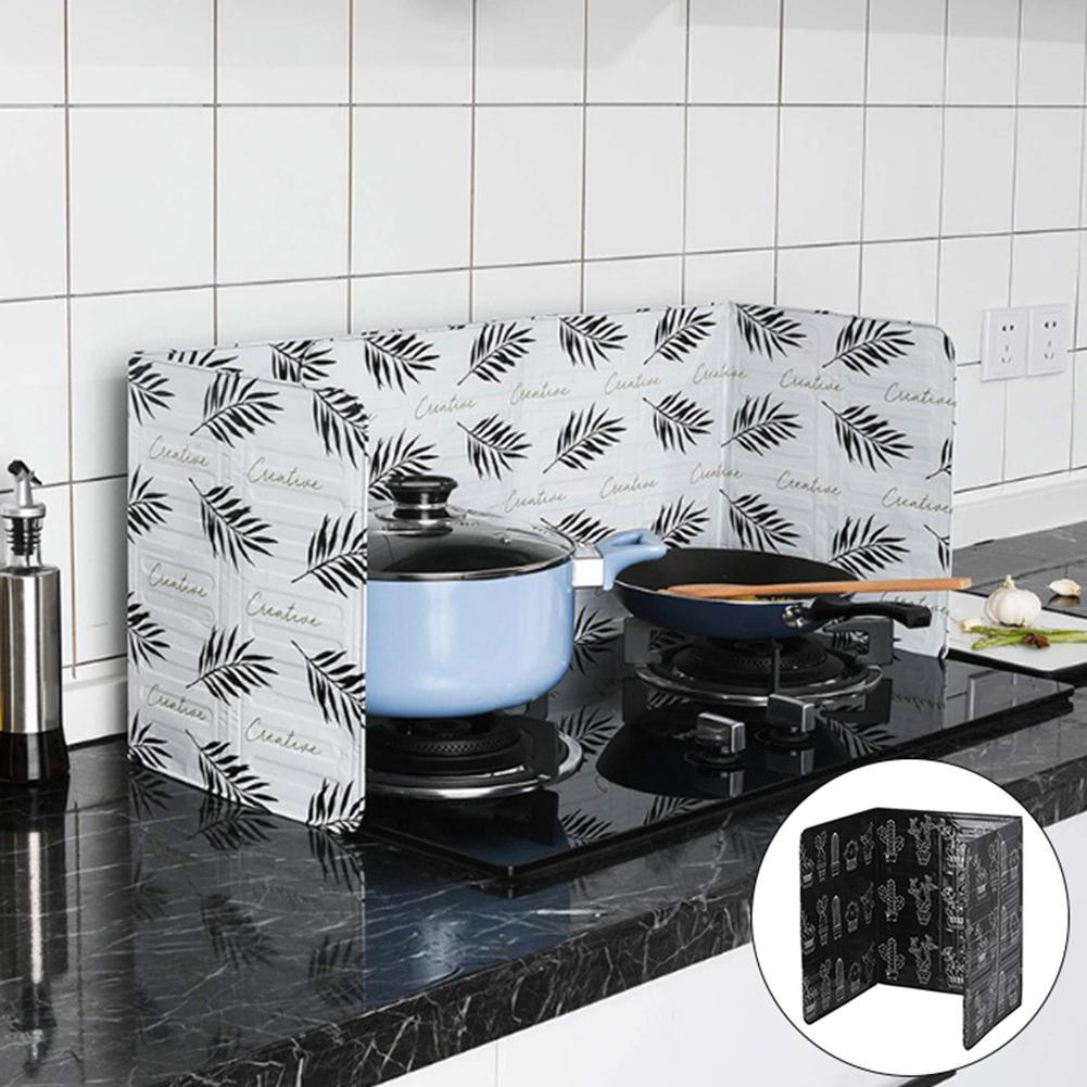 1pc Aluminum Foil Kitchen Cooking Oil Splash Guard Gas Stove Heat Burn Proof Board Supplies New