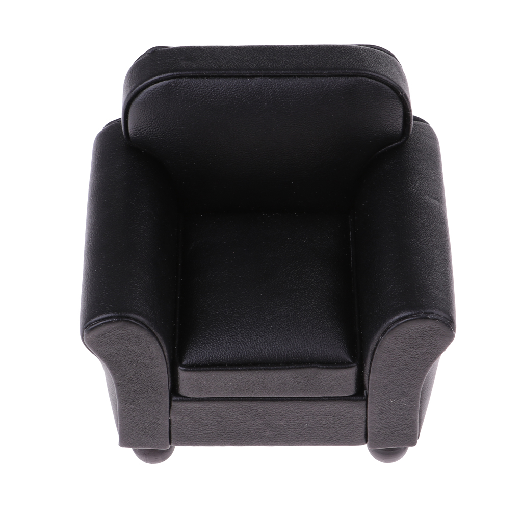 Fantastic Us 16 44 47 Off 1 12 Scale Miniature Single Sofa Leather Couch Armchair Dolls House Drawing Living Room Furniture Kids Pretend Play Toy In Furniture Creativecarmelina Interior Chair Design Creativecarmelinacom