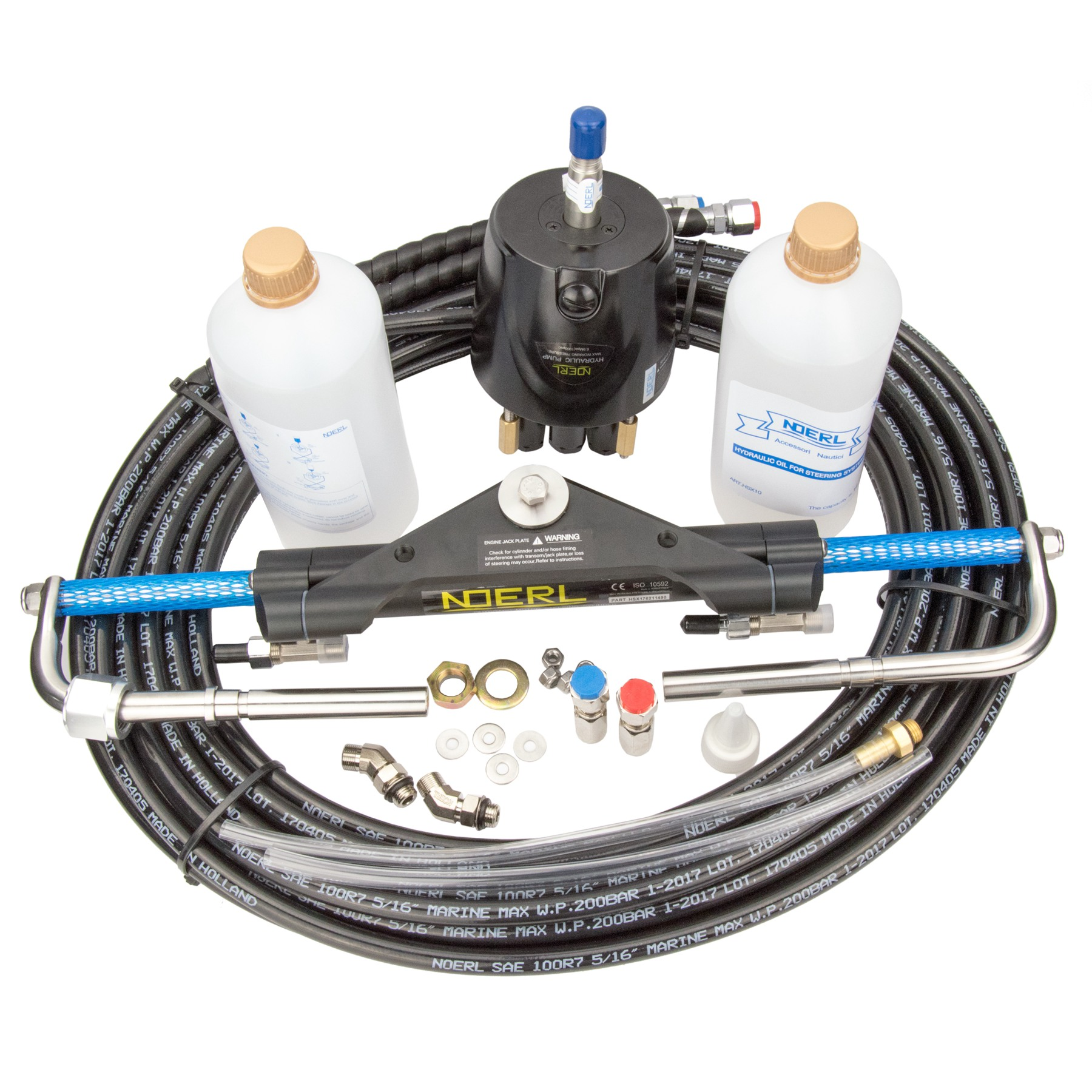 Universal Hydraulic Boat Outboard Steering System Kit Marine Steering Cylinder Helm 150HP