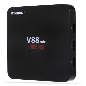 SCISHION V88 Mini TV Box RK3229 4 Core Android 6.0 1GB RAM 8GB ROM HDMI 1.4 Set Top Box 2.4GHz WiFi H.265 Media Player